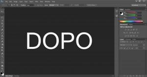 interfaccia di Photoshop dopo l'ingrandimento