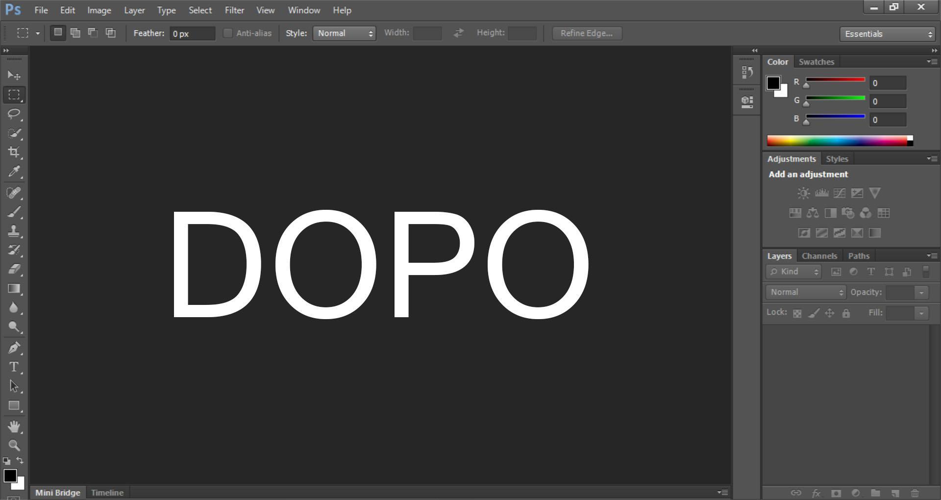 Come ingrandire l'interfaccia troppo piccola di Photoshop