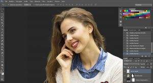 scontornare i capelli con photoshop su sfondo complesso