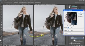 aumento del contrasto del soggetto tramite il filtro Maschera di contrasto