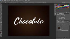 scritta di cioccolato