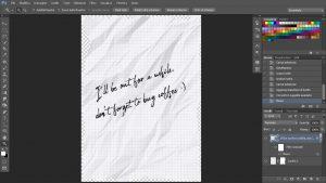 filtro muovi applicato sul testo