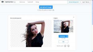scontornare foto online con removebg