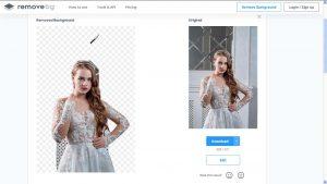 una foto processata non perfettamente da removebg