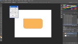 arrotondare gli angoli di un rettangolo su photoshop tramite script