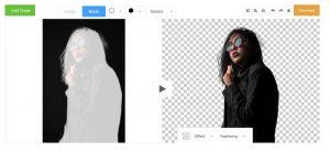 la modalità maschera di edit photos for free