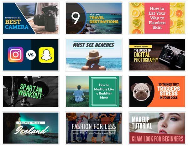 creare miniature YouTube con Snappa