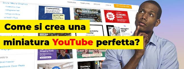 creare miniature YouTube