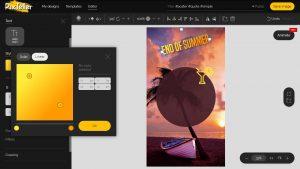 come creare un testo multicolore su PixTeller