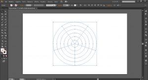 Cerchi concentrici su Illustrator