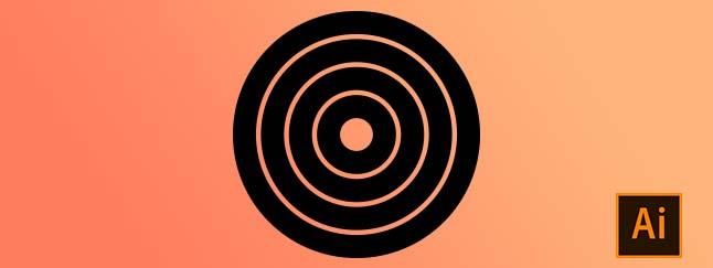 come realizzare dei cerchi concentrici su Illustrator