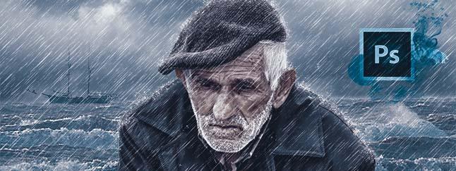 come ricreare un effetto pioggia con Photoshop