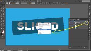 come tagliare un testo su Illustrator usando la maschera di ritaglio